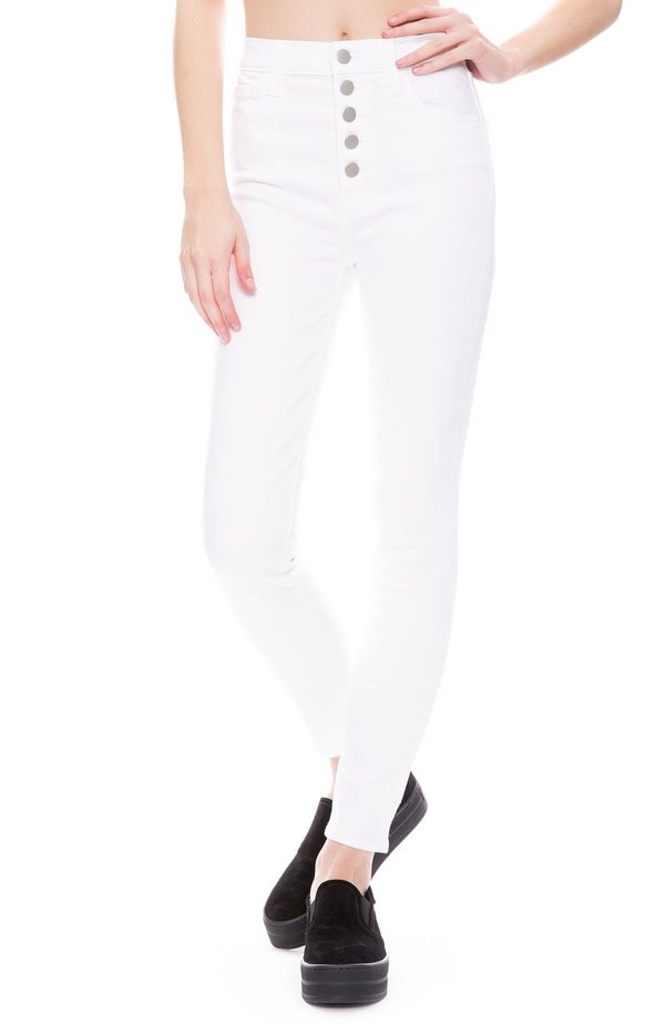 807a090b9666 J Brand Lillie High-Rise Skinny In Photo Ready HD Jean - White ...