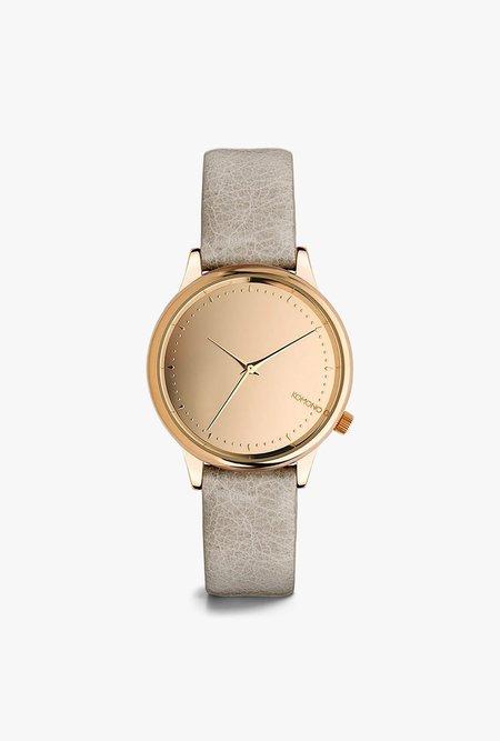 KOMONO Estelle Mirror Watch - Rose Grey