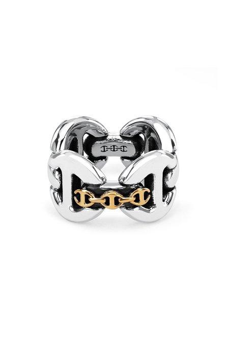 Hoorsenbuhs Affix Quad Ring - Sterling Silver/Gold