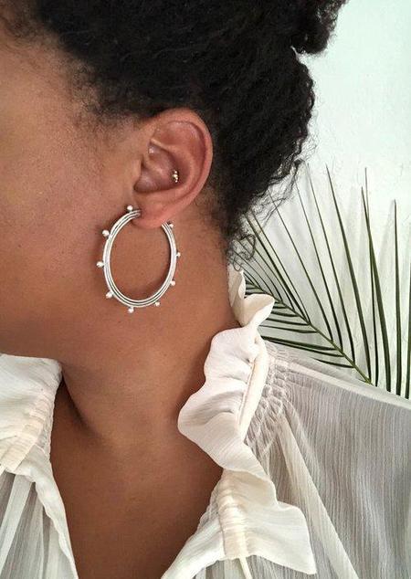 Soleé Darrell Jewelry Moongate Hoop Earrings