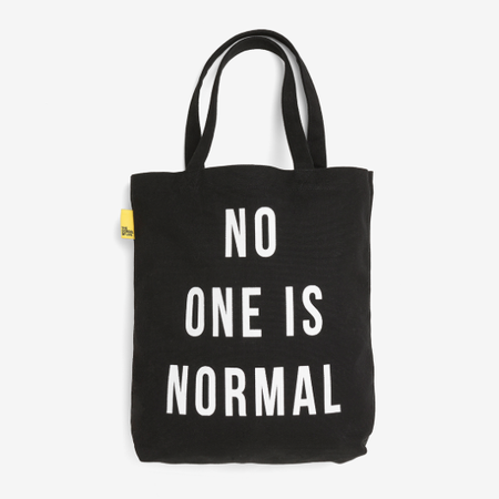 The School of Life No one is normal tote bag - black