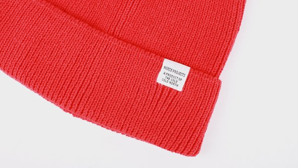 06d1fcd9b Unisex Norse Projects Cotton Watch Beanie - Askja Red | Garmentory