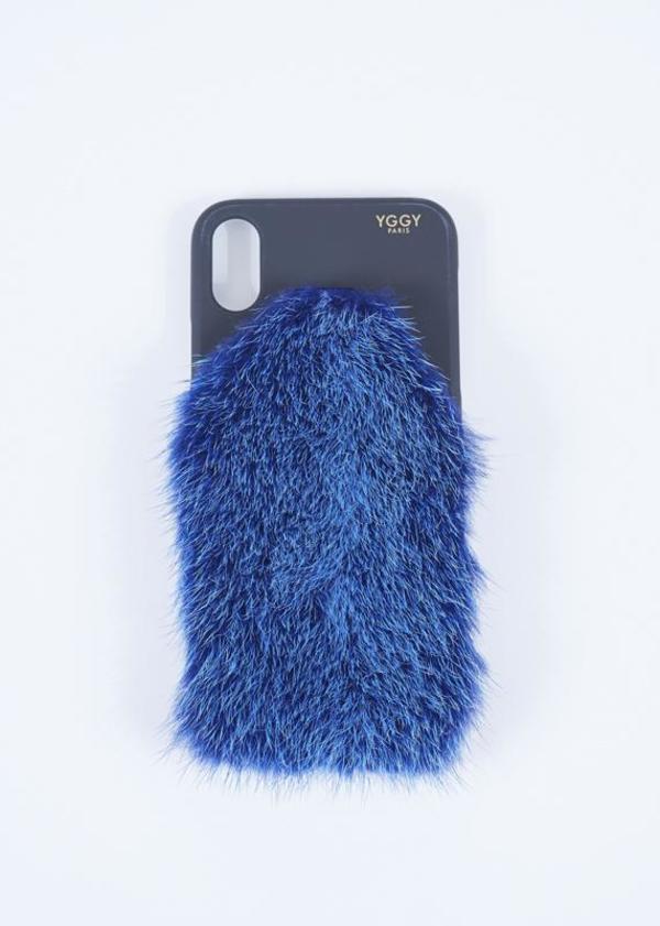 designer fashion b390f 32731 YGGY Mink iPhone X Case - royal blue on Garmentory