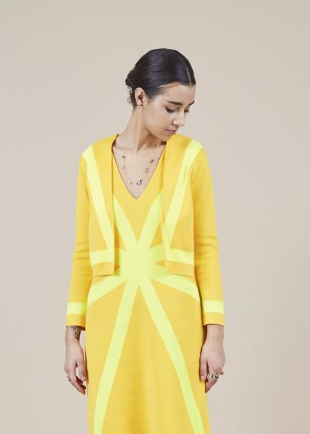 Sartoria Vico Knit Cropped Jacket - golden yellow