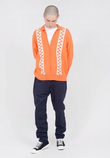 Lazy Oaf Double Stripe Zip Up Cardigan - orange