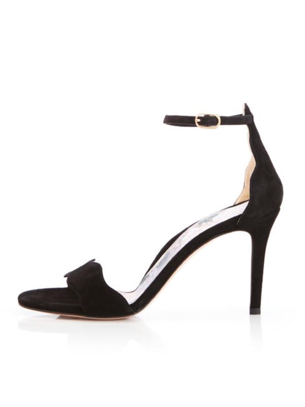 03d55da30ee MARION PARKE Fiona Ankle Strap 85mm Stiletto Sandal - Black on Garmentory