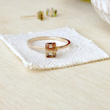 Januka Bi-Color Tourmaline Ring - 10k Gold