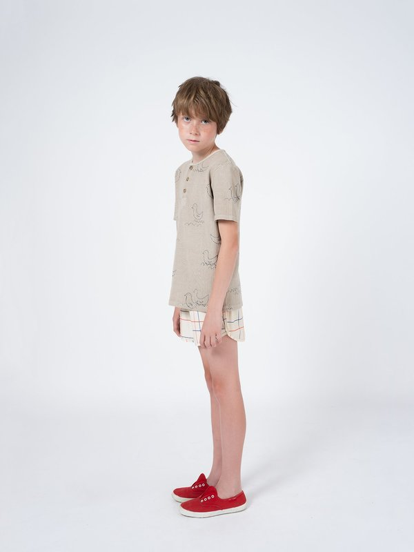 KIDS Bobo Choses Geese Henley - Light Grey