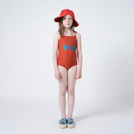 KIDS Bobo Choses Child One Piece Swimsuit With Blue Cherry Print - Red
