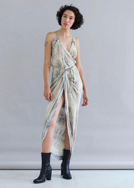 W35T Honeycomb Wrap Dress