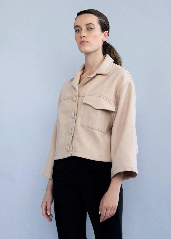 fabffb09b Selfi Wool Cropped Utility Jacket on Garmentory