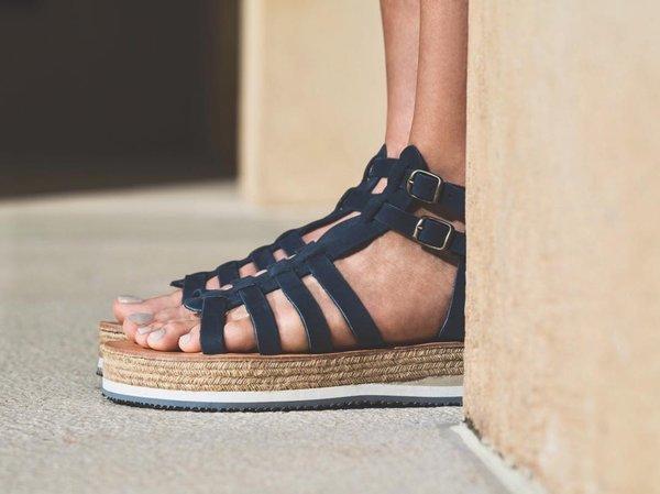 b1177ad1910 ĒSIOT Gladiator Sandals - Navy Blue