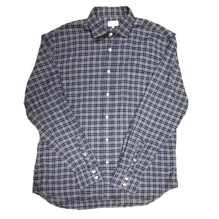 Hartford Paul Shirt - Grey Raw Checks