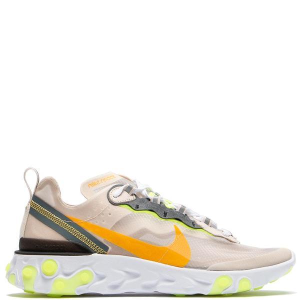 d4ae04b3276 Nike React Element 87 Light Orewood Brown   Laser Orange