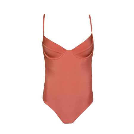 clō stories Colette terracotta underwired swimsuit