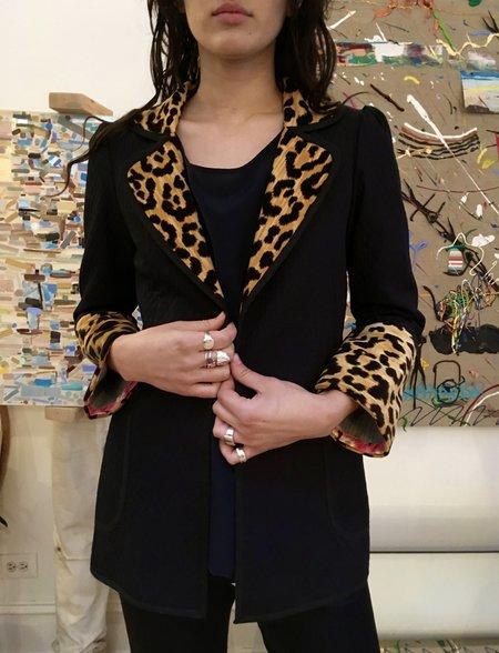Alix Of Bohemia Richards Coat - Navy/Leopard