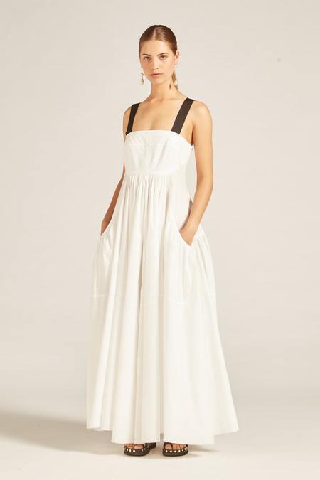 Lee Mathews eleanor cotton poplin apron dress - natural