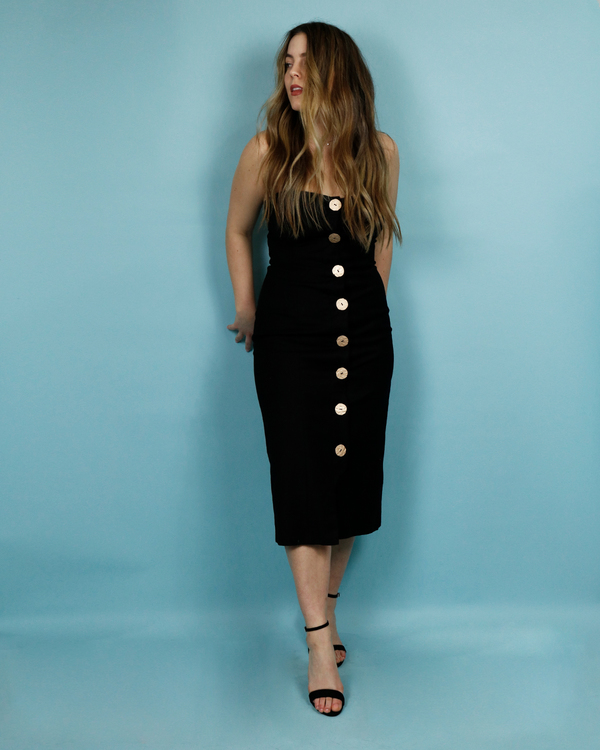 7f23964b85e8 Finders Keepers Pompeii Dress - BLACK | Garmentory