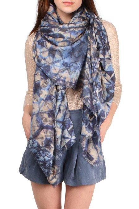 Alonpi Cashmere Saruk Printed Stole scarf - Blue Multi