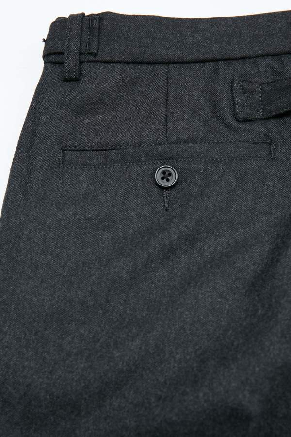 Beams+ Ivy Trouser 9/10 Flannel - Charcoal Grey