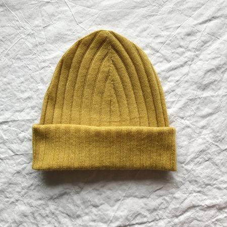 Ros Duke Ribbed Beanie Hat - Mustard