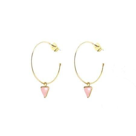 L'atelier Emma & Chloe Lara Earrings - Rose Quartz