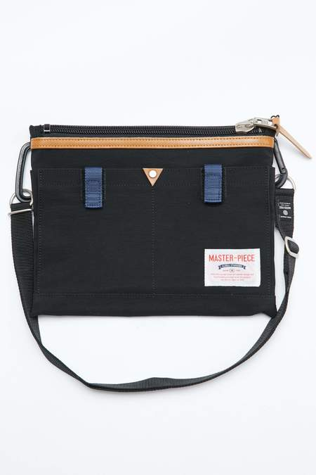 Master-Piece Link Shoulder Bag - Black