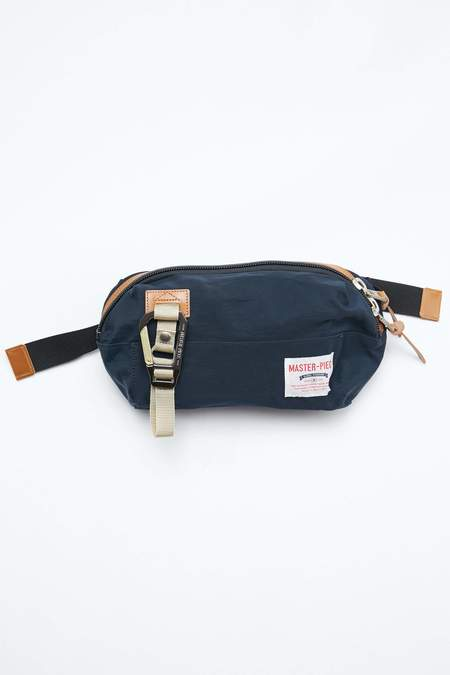 Master-Piece Nylon Twill Link Waist Bag - Navy
