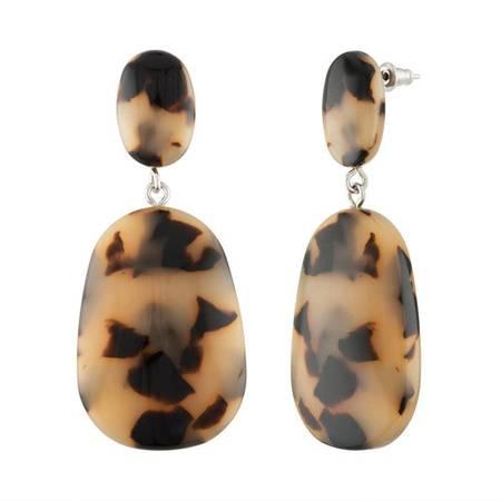Machete Grande Drop Earrings - Blonde Tortoise