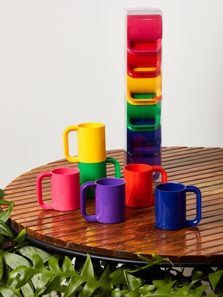 Heller Set of 6 Rainbow Mugs