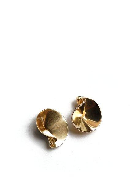 Tiro Tiro Selo Earrings - Brass