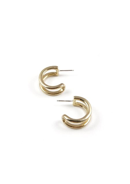 Tiro Tiro Tiny Gemini Earrings - BRASS
