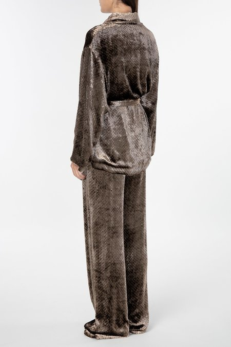 Alena Akhmadullina Viscose Jacket+Trousers - BROWN