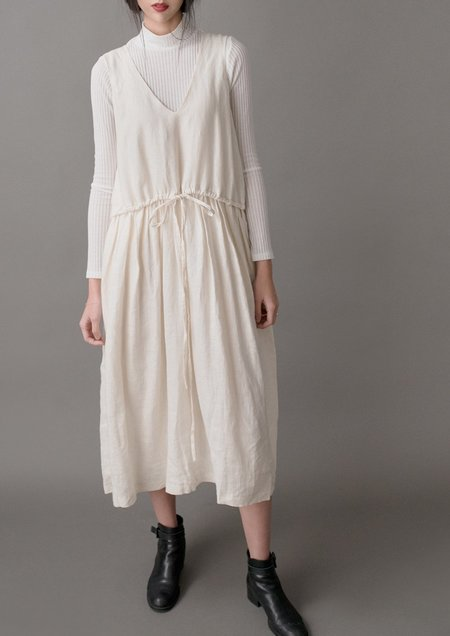 Vestige Story Mural Dress - Cream