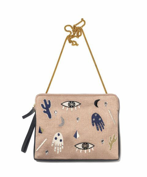 LIZZIE FORTUNATO SAFARI CLUTCH VOODOO