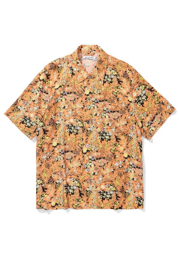 85e7b8c7 Our Legacy Short Sleeve Box Shirt - Red Plants Print | Garmentory