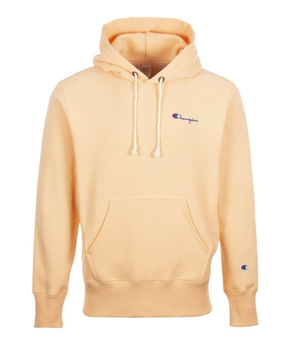 latest sale arrives purchase newest Champion Hooded Sweatshirt - Peach on Garmentory