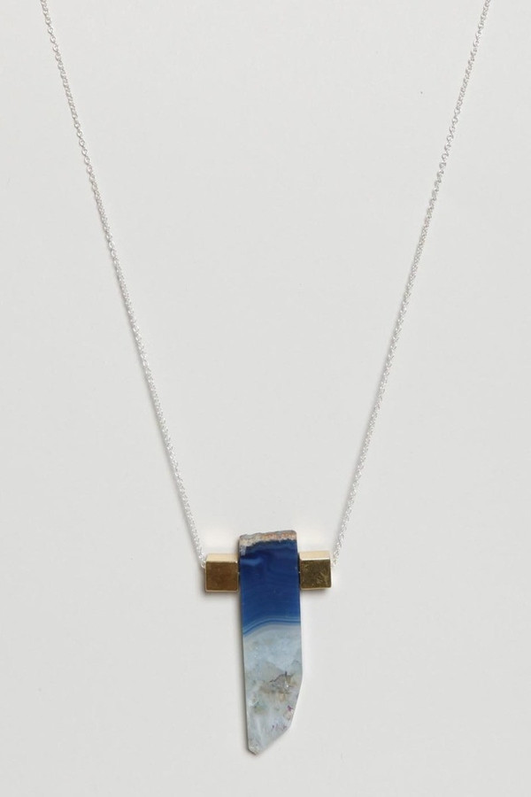 Aesa Agate Geologic Time Necklace