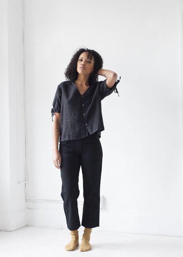 8e93b576bf7 Beaton Linen Utility Trouser - Black