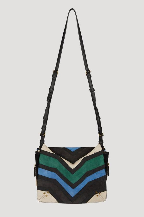 ed27589e2 Jerome Dreyfuss Igor Patchwork Bag in Blue/Green | Garmentory