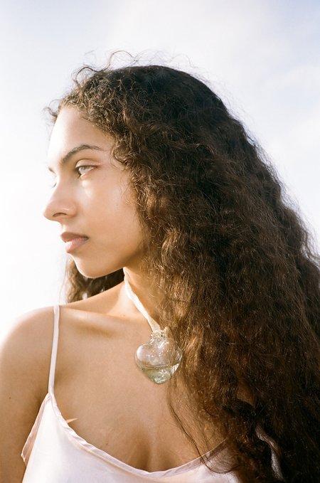 Alexa De La Cruz Glass Heart Necklace - Clear