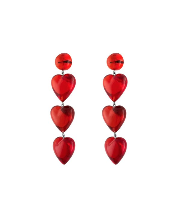 Tuza Never Tear Us Apart Earrings - Cherry Red