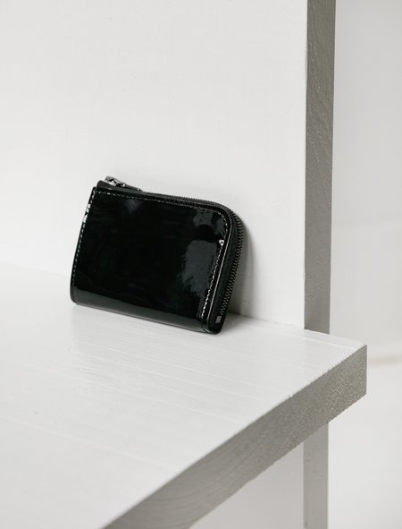 Isaac Reina Mini Zipped Patent Calf Wallet