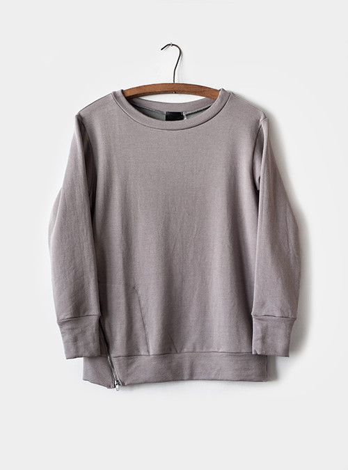Heather Side Zip Fleece Pullover