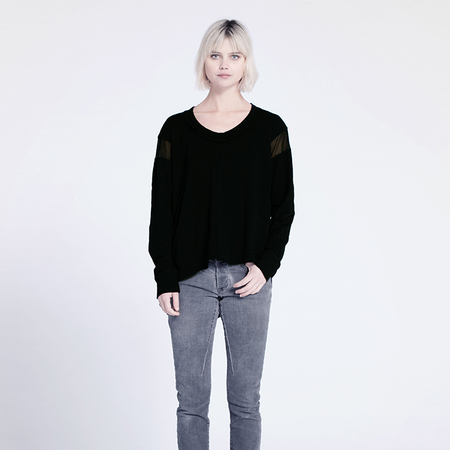 Wilt Crew with Tulle Insets - Black