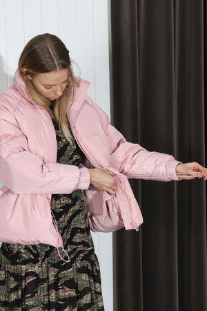 Ganni Whitman Puffer Jacket - Pink