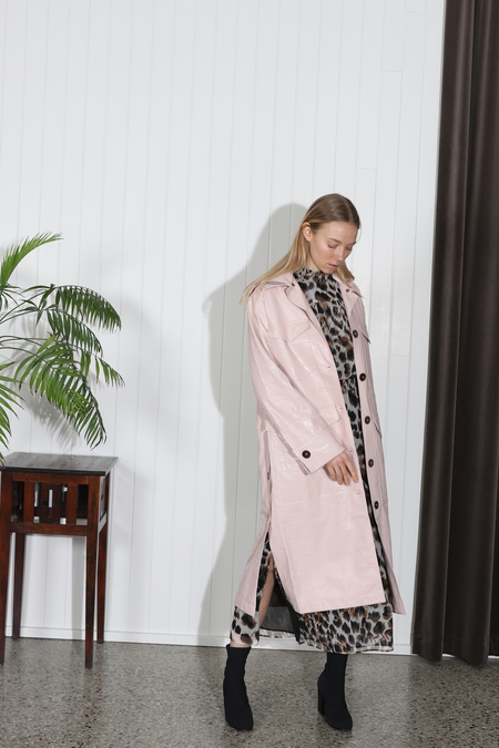 Nanushka Gus Oversized Duster Coat - Blush
