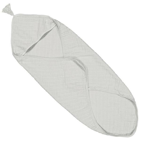 Kids Moumout Paris Sybel Muslin Hooded Towel - Almond Green