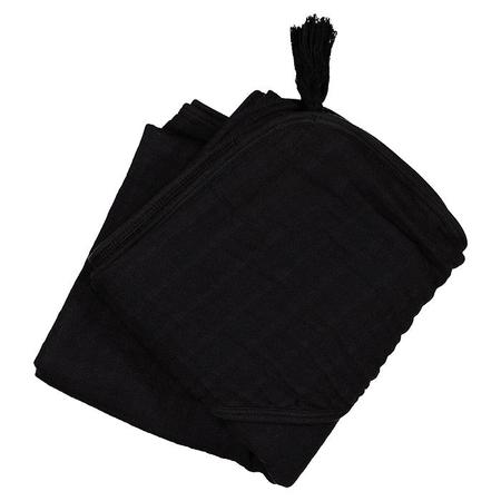 Kids Moumout Paris Sybel Muslin Hooded Towel - Ink Black