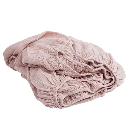 Moumout Paris Twin Bed Fitted Sheet - Nu Pink